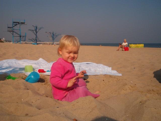 Marianna na plaży