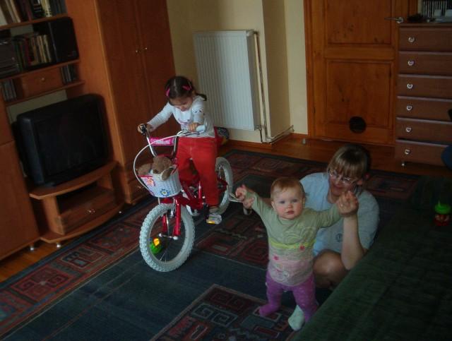 nowy rowerek Oli