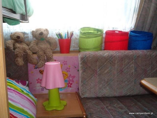 pokój dziecięcy w przyczepie