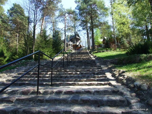 schody na św. Górę Grabarkę