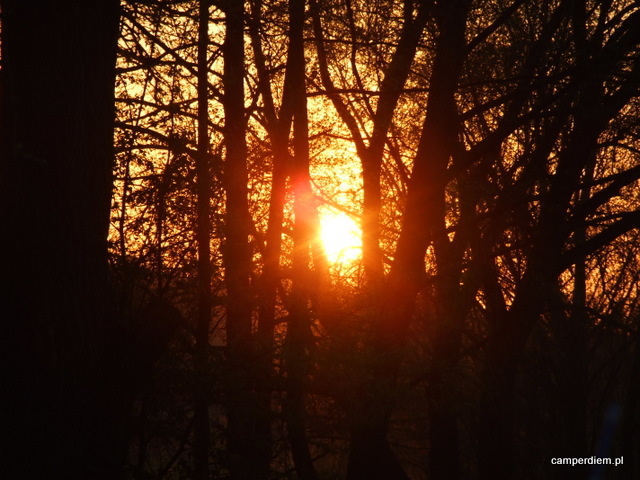 zachód słońca w Mielniku