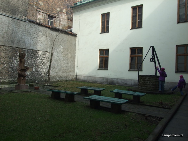 dziedziniec Archiwów Państwowych w Krakowie