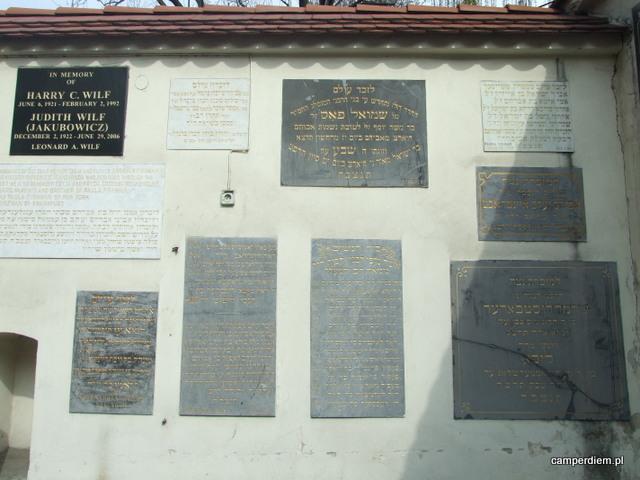 Synagoga Remuh, tablice