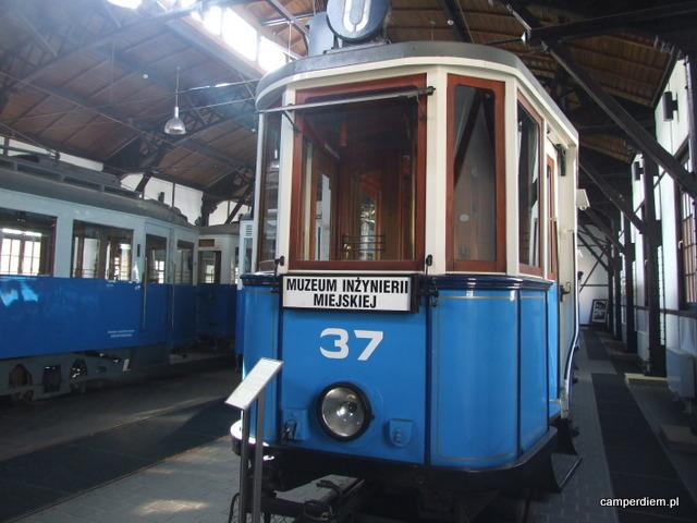 wystawa tramwajów w Muzeum Inżynierii Miejskiej