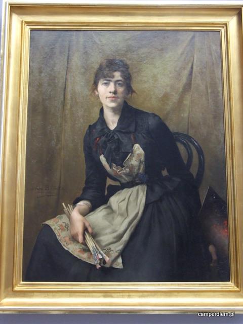 Anna Bilińska-Bohdanowicz - Autoportret z paletą