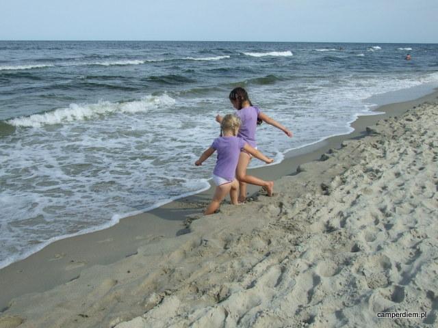 spacer plażą w Krynicy