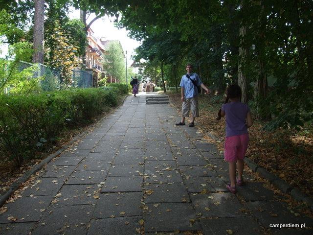 spacer do centrum Krynicy