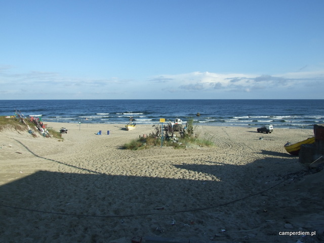 ostatnie spojrzenie na plażę i morze