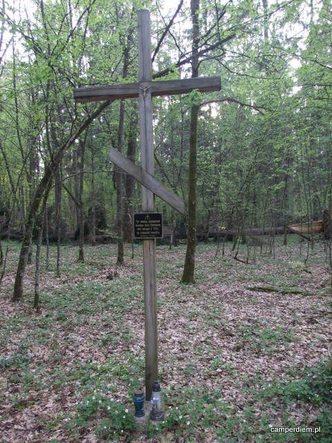 pamiątkowy krzyż w Białowieży