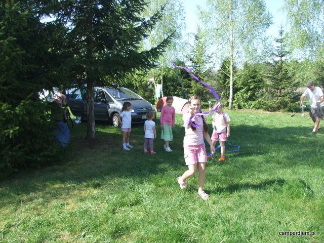zabawa na kempingu w Białowieży