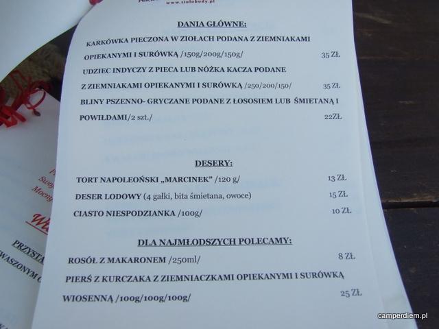 menu Sioło Budy