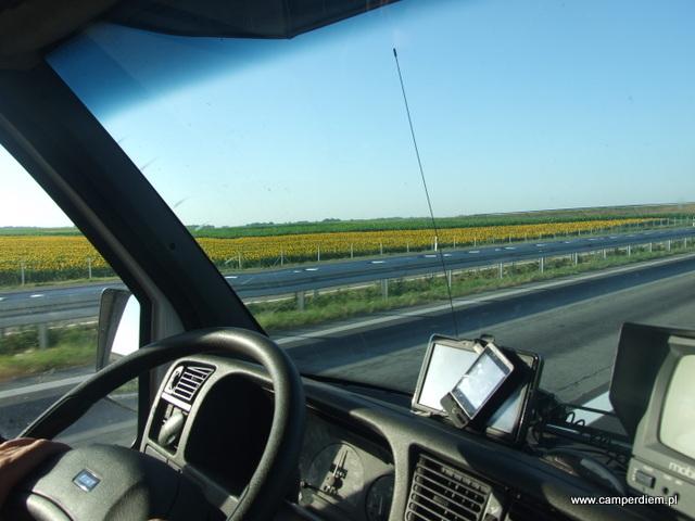 widok z serbskiej autostrady