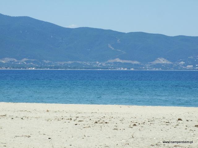 piasek, morze, góry