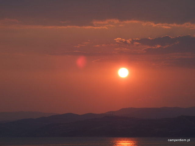 zachód słońca w Ouranopouli