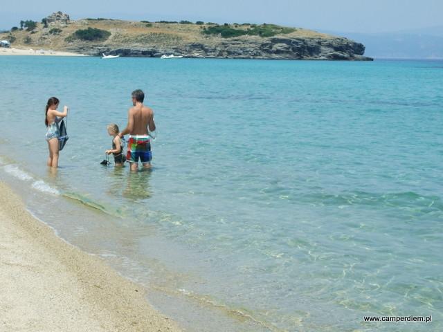 kąpiel w Ormos Panagias