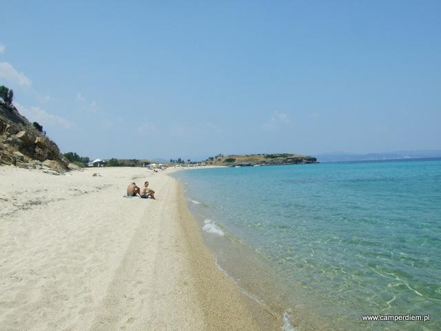 plaża w Ormos Panagias (w oddali Litochorio)