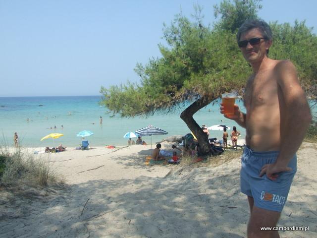 w beach barze w Karydi