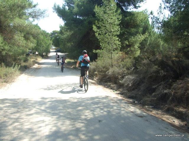 niemiecka wycieczka rowerowa na Portokali Beach