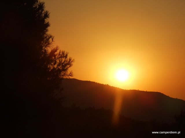 zachód słońca na Portokali Beach