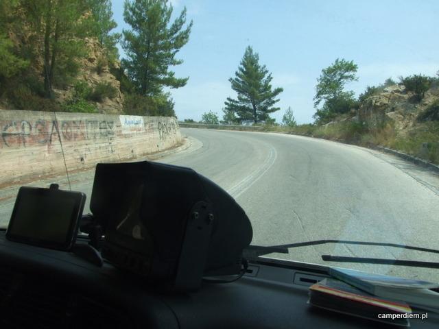 Sithonia, malownicza droga pomiędzy Portokali Beach, a Ormos Panagias