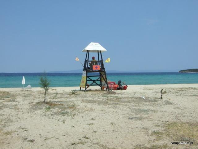 plaża Livrochio (z błękitną flagą)