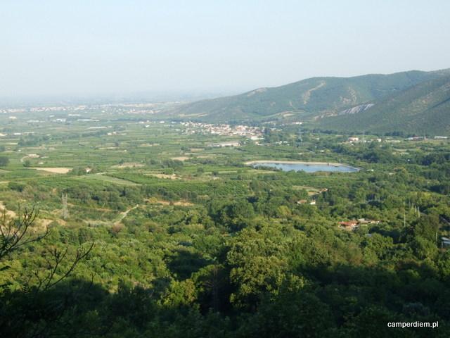 panorama z wodospadów Edessa