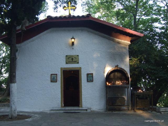 Edessa kościół w parku przy wodospadach