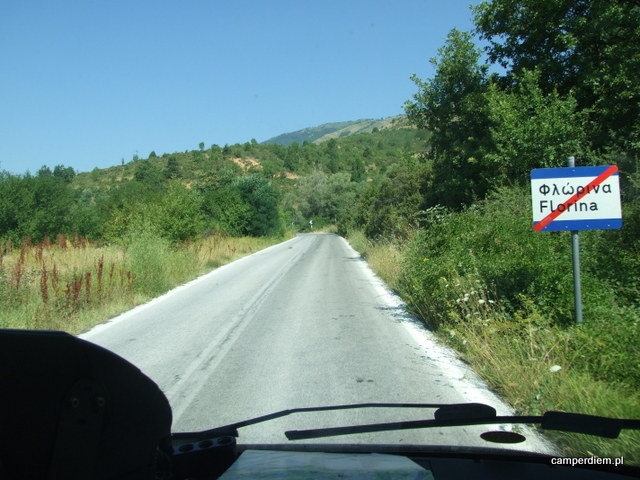 droga na przełęcz Pisoderi