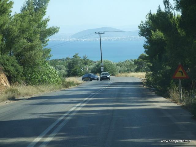 droga przez wyspę Evia