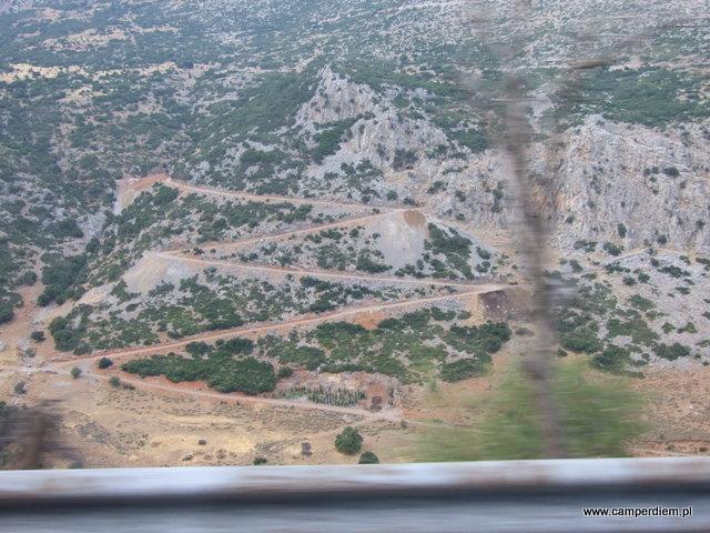 widok z drogi do Delf