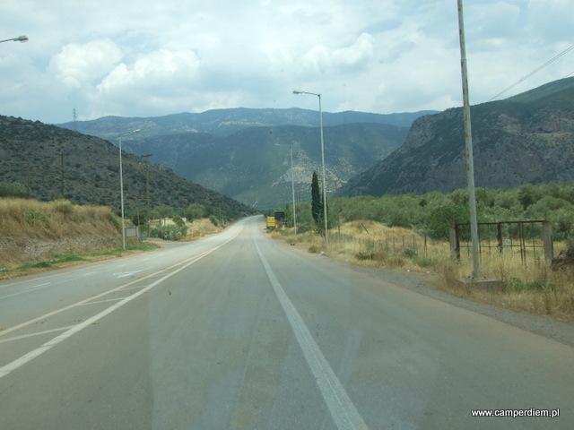 droga z Delf do Termopili