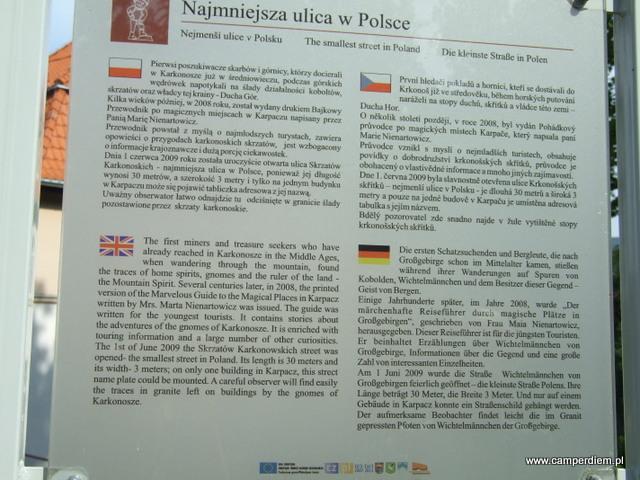 najmniejsza ulica w Polsce