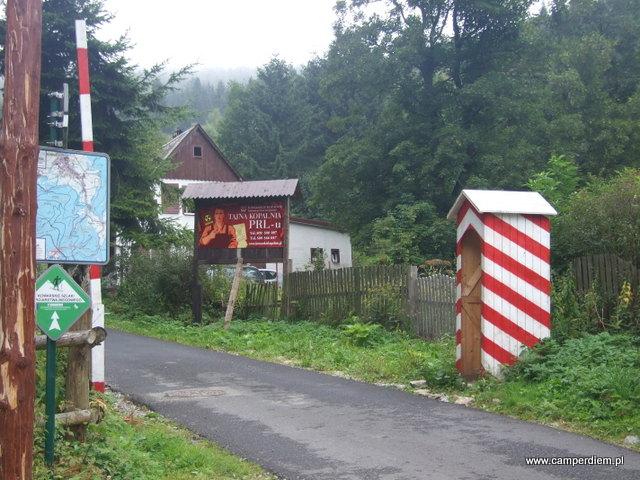 reklama trasy turystycznej PRL