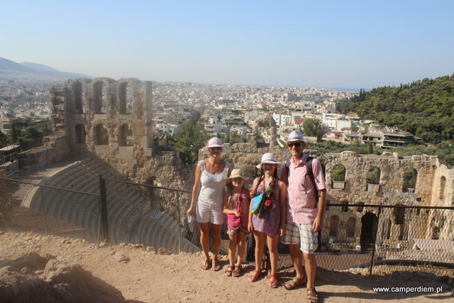 panorama Aten z Odeonu